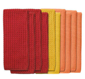 Microfiber Kitchen Towels -Red/Orange