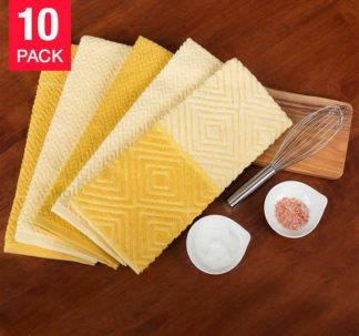 Town-Country-Luxe-Living 10 Pack Kitchen Towel -Yellow