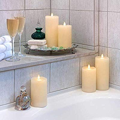 Sterno Home 5-Pc Moving Flame LED Candle Set with Remote Control