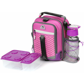 AZ Pro High Performance Dual Compartment Lunch Pack 8-Piece Set - Pink