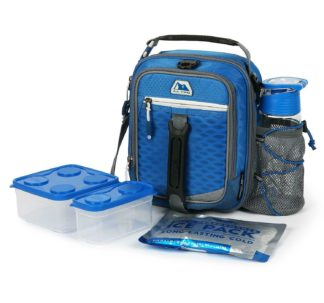 AZ Pro High Performance Dual Compartment Lunch Pack 8-Piece Set - Blue