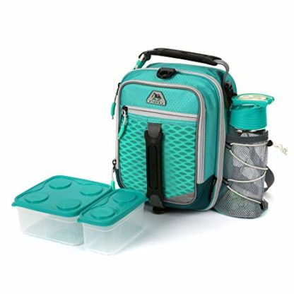 AZ Pro High Performance Dual Compartment Lunch Pack 8-Piece Set - Teal