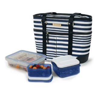 Arctic Zone Ladies Lunch Tote Insulated Bucket - Striped