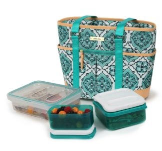 Arctic Zone Ladies Lunch Tote Insulated Bucket - Turquoise