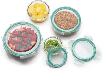 Berkley Jensen 20-Pc. Round Glass Food Storage Set