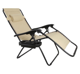 Berkley Jensen Oversized Zero Gravity Lounger - Khaki