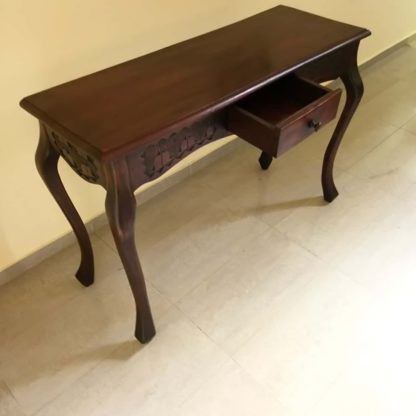 Ermonte 120cm Hand Carved Console Table - Rectangular