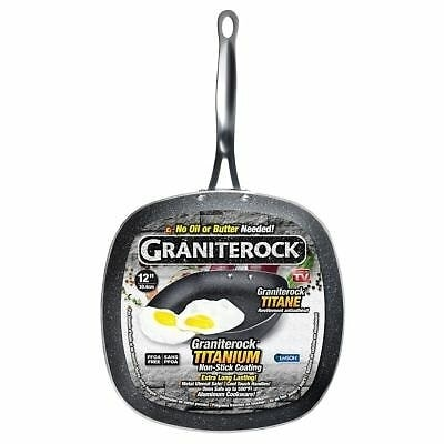 Graniterock Triple Layer Non-stick fry pan with fry pan with Titanium