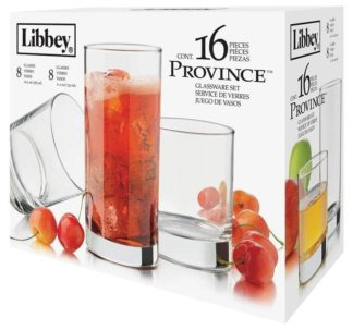 Libbey 16 pcs Glass Set