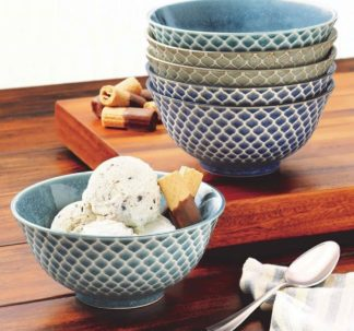 Wax Relief 6-piece Porcelain Bowl Set