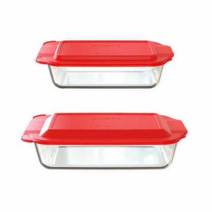 Pyrex 50% Deeper Baking Dish 2 piece set with lids