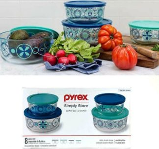 Pyrex Simply Store Pure Glass BPA-free 8 Piece Set