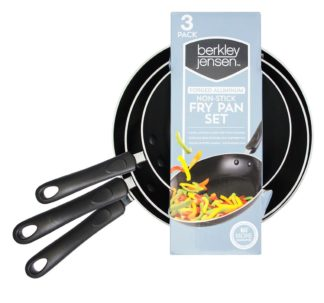 Berkley Jensen 3 Piece Fry Pan Set
