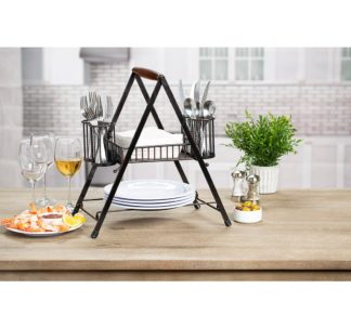 Berkley Jensen Collapsible Wire Buffet Caddy