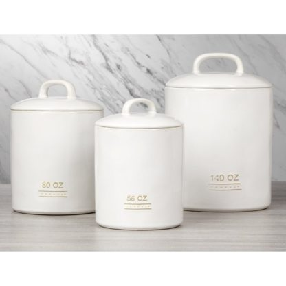 Farmhouse 3 pieces Ceramic Canisters