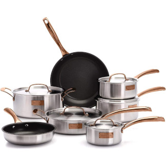 Fleischer and Wolf London Tri-Ply 12-Piece Cookware Set