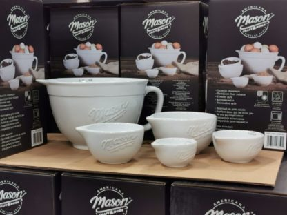 Mason 5-piece Ceramic Batter Bowl and Measuring Cups Set
