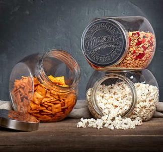 Mason Crafts & More Tilted Glass Jars, 3-pack Set