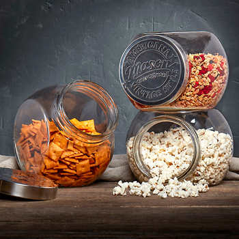 Mason Crafts & More Tilted Glass Jars, 3-pack Set
