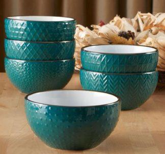 # Member's Mark 6 Texture Bowls - Green
