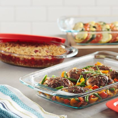 Pyrex 6-Piece Easy-Grab Glass Bakeware Set