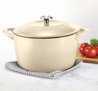 Tramontina Enameled Cast Iron Covered Dutch Oven - 7qt / 6.62L -Latte