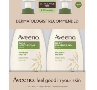 Aveeno Daily Moisturizing Lotion 20 fl oz., 591ml, 2-pack