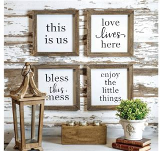 4 Rustic Wood Farmhouse Signs
