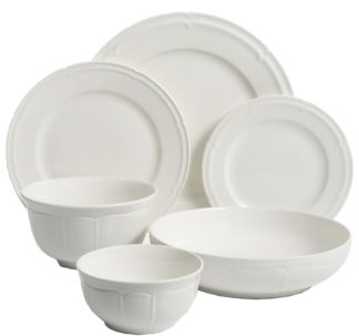 Gibson Elite 48-Piece Porcelain Dinnerware Set