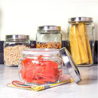 # Mason 4-piece Glass Canister Set