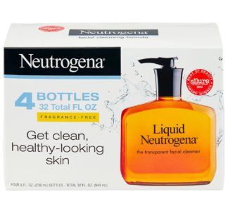 # Liquid Neutrogena Fragrance-Free Facial Cleanser (8 fl. oz.,944ml, 4 pk.)