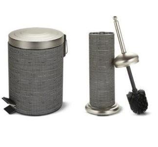 # Easy Home Decorative Waste Bin and Toilet Brush - Satin Nickel