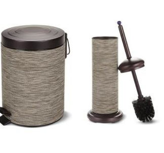 # Easy Home Decorative Waste Bin and Toilet Brush - Oil Rubbed Bronze