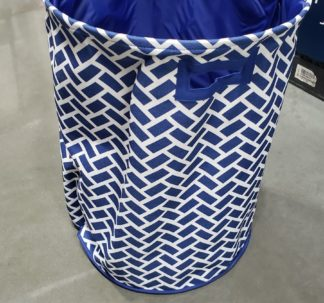 "Nautica Jumbo Clothes Hamper Basket, Blue 18"" X 24"""