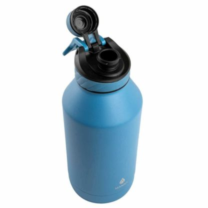 Manna Convoy Double Wall Vacuum Insulated Leakproof Lid Water Bottle | Blue | 1.89 L | 18/8 Stainless Steel| Keeps Liquid Cold Up to 24 Hrs Hot up to 12 hrs | BPA Lead Free