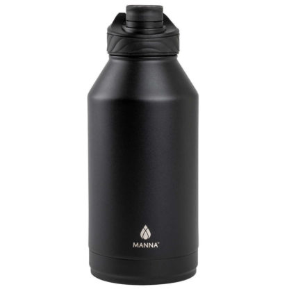 # Manna Convoy Double Wall Vacuum Insulated Leakproof Lid Water Bottle | Black | 1.89 L | 18/8 Stainless Steel| Keeps Liquid Cold Up to 24 Hrs Hot up to 12 hrs | BPA Lead Free
