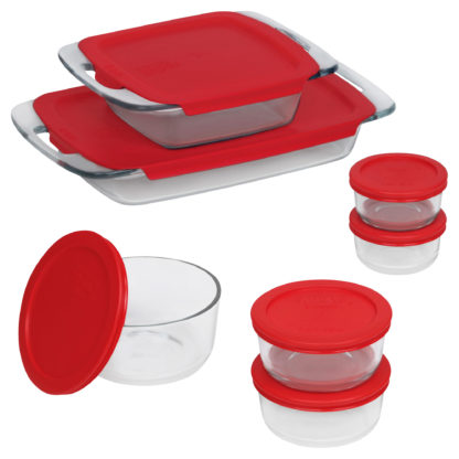 # Pyrex Bake N' Store 14-Piece Glass Container Set with Plastic Lids
