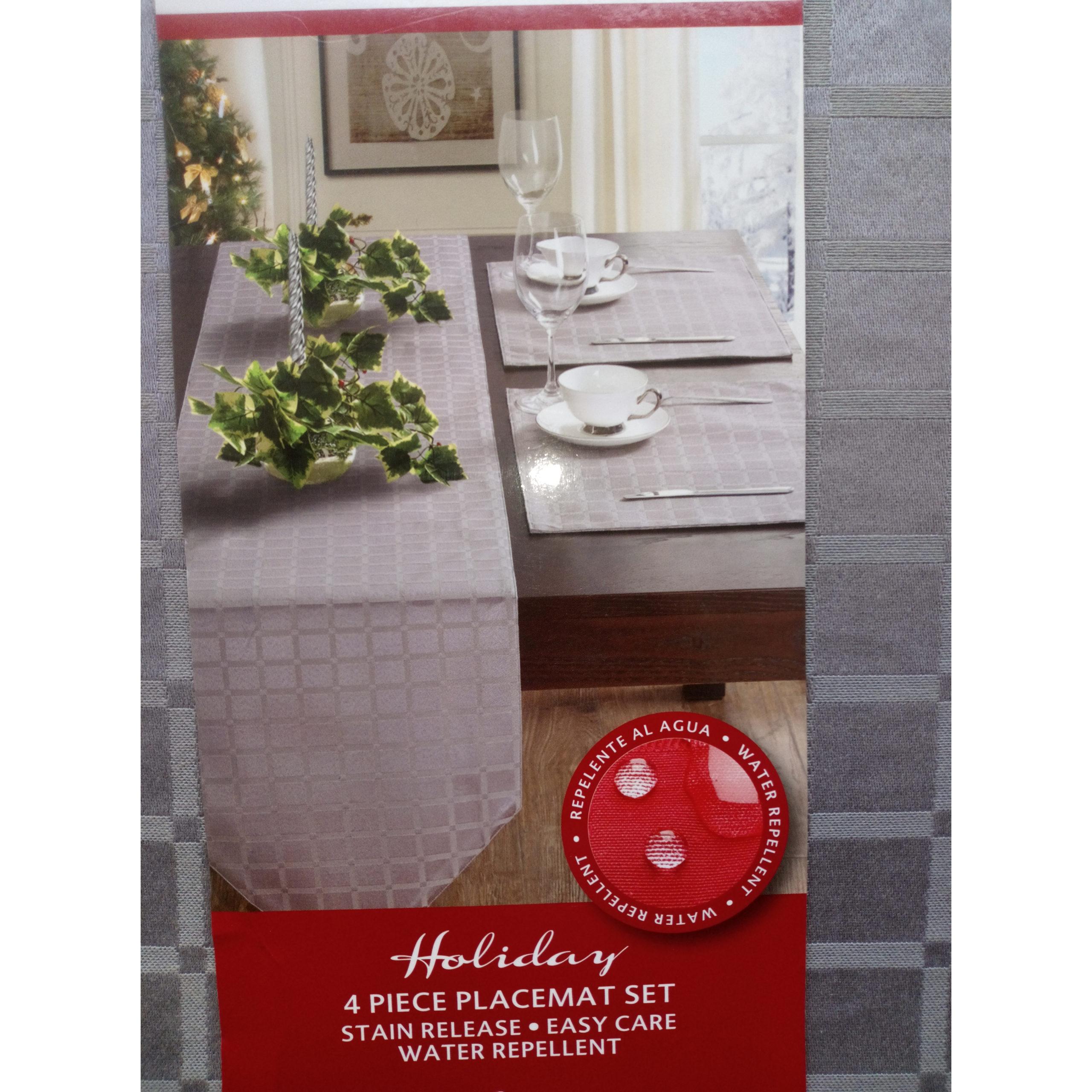 Huntington Home 4 Piece Placemat Set Grey Nortram Retail