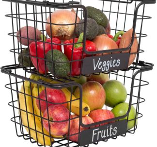 Costco Stacking Wire Market Baskets with Chalk Label