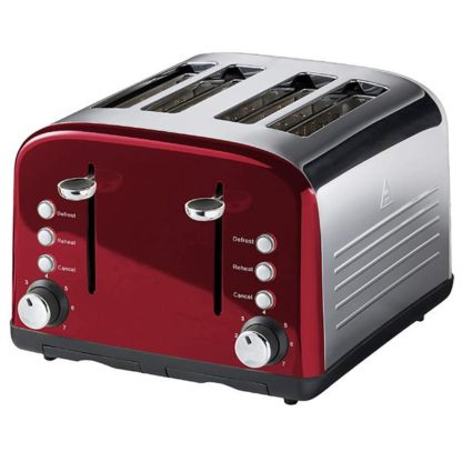 Sainsbury's Home Redcurrant 4 Slice Toaster
