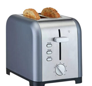 # Cookworks Stainless Steel 2 Slice Toaster