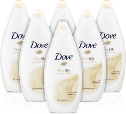 Dove Fine Silk Beauty Bath Cream - 450 ml (6 pack)