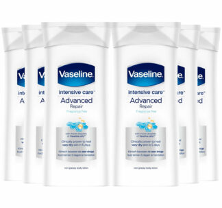 Vaseline Intensive Care Body Lotion, Advanced Repair - 400ml (6 Pack)