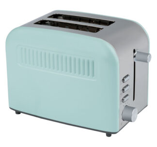 SILVERCREST toaster with a polished stainless steel front