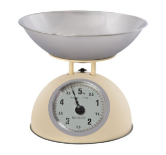 Ernesto Traditional Kitchen Scales - Glossy Cream