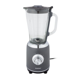 Silvercrest 1.75L Blender 600W 5 Speeds + Pulse Function Glass Jug - Gre