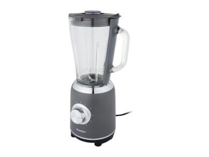 Silvercrest 1.75L Blender 600W 5 Speeds + Pulse Function Glass Jug - Grey
