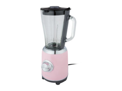 Silvercrest 1.75L Blender 600W 5 Speeds + Pulse Function Glass Jug Pink