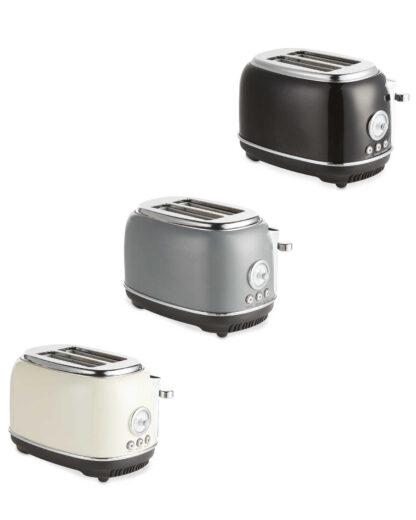 Ambiano Retro Toaster - High Gloss Black