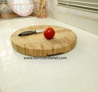 Premium Round Wooden Trivet - 35 cm Diameter , 3.5 cm Height